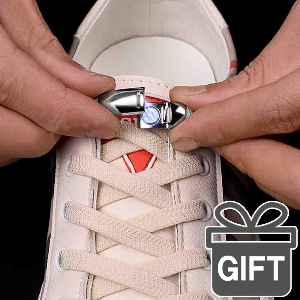 넘버원리빙 노매듭 신발끈 클립세트 (투명후크증정) 매듭없는 운동화끈 풀림방지