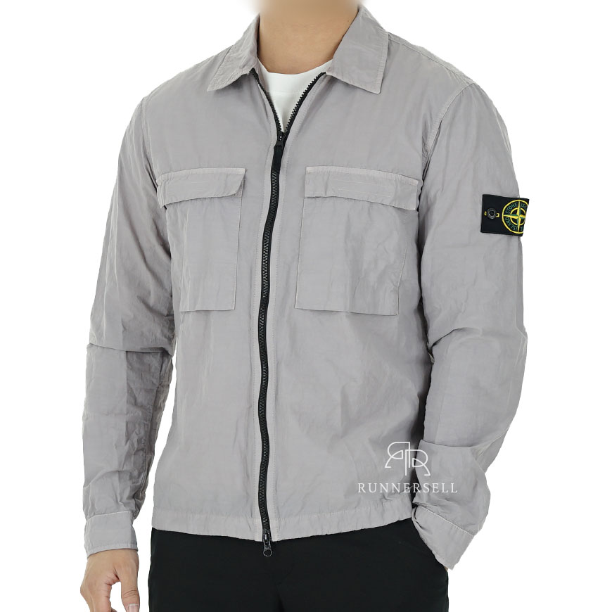20SS 스톤아일랜드 나슬란 오버셔츠 자켓 721511102 그레이