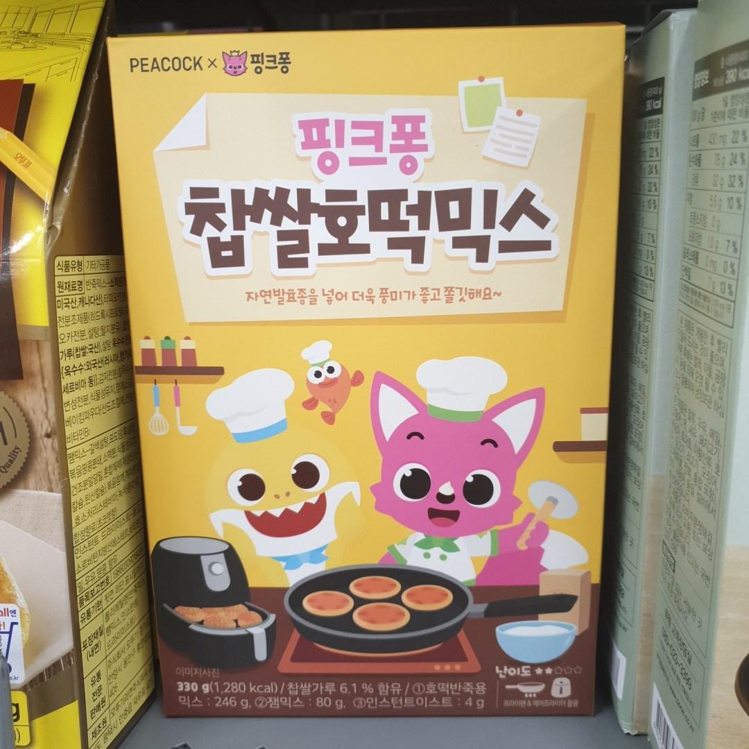 피코크 핑크퐁 찹쌀호떡믹스 330g x 2개