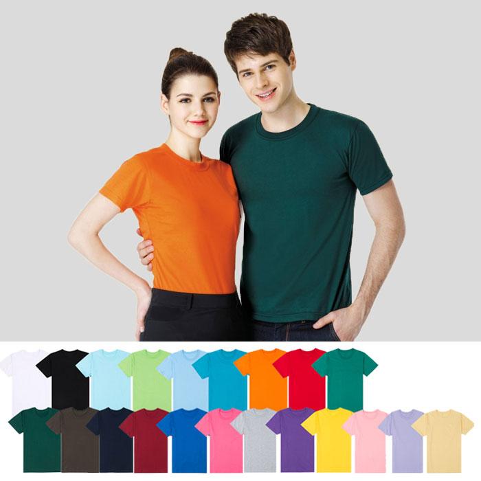 티티뱅크 남여공용 30수 무지 라운드넥 반팔 티셔츠 티셔츠>>반소매