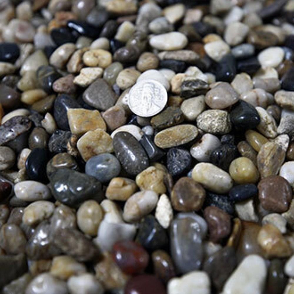 우화석 강자갈 콩자갈 에그스톤 돌맹이 혼합유광 20kg, 우화석 혼합 광택(유광) 20kg 소-1