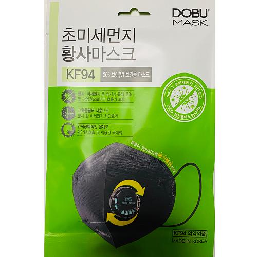한국 도부 고효율 필터 마스크 KF94, 1개, 1매