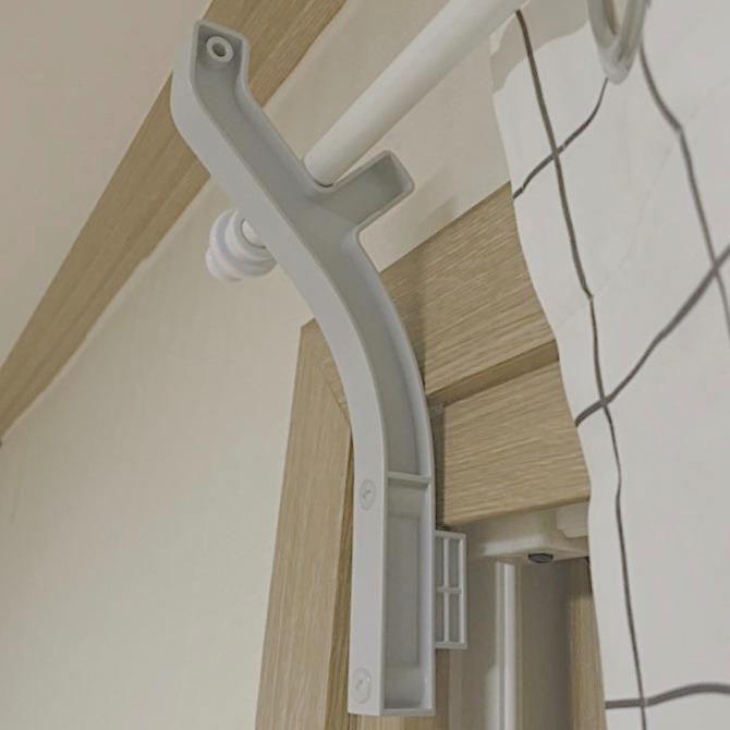 더짜이 못없이 커튼봉 브라켓 달기 커튼 걸이 설치하는 방법 나사없는 전세집 월세 원룸