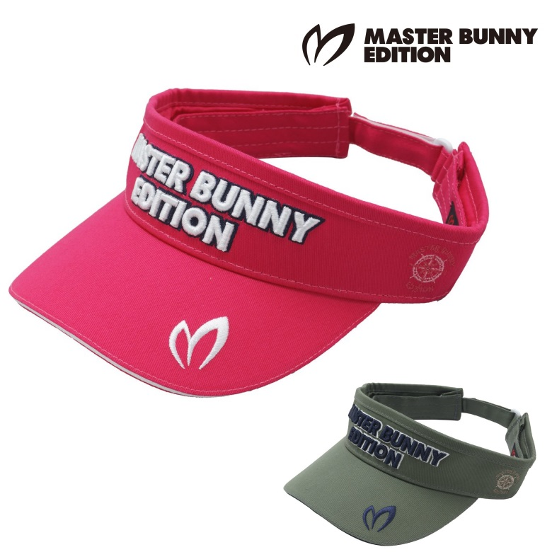 마스터바니에디션 [국내발송][무료배송] 파리게이츠 남성 클래식 트윌 썬바이저 158-9187103 master bunny edition classic twill sun visor mens [오후 3시 이전 주문시 당일 발송], 핑크 (090)