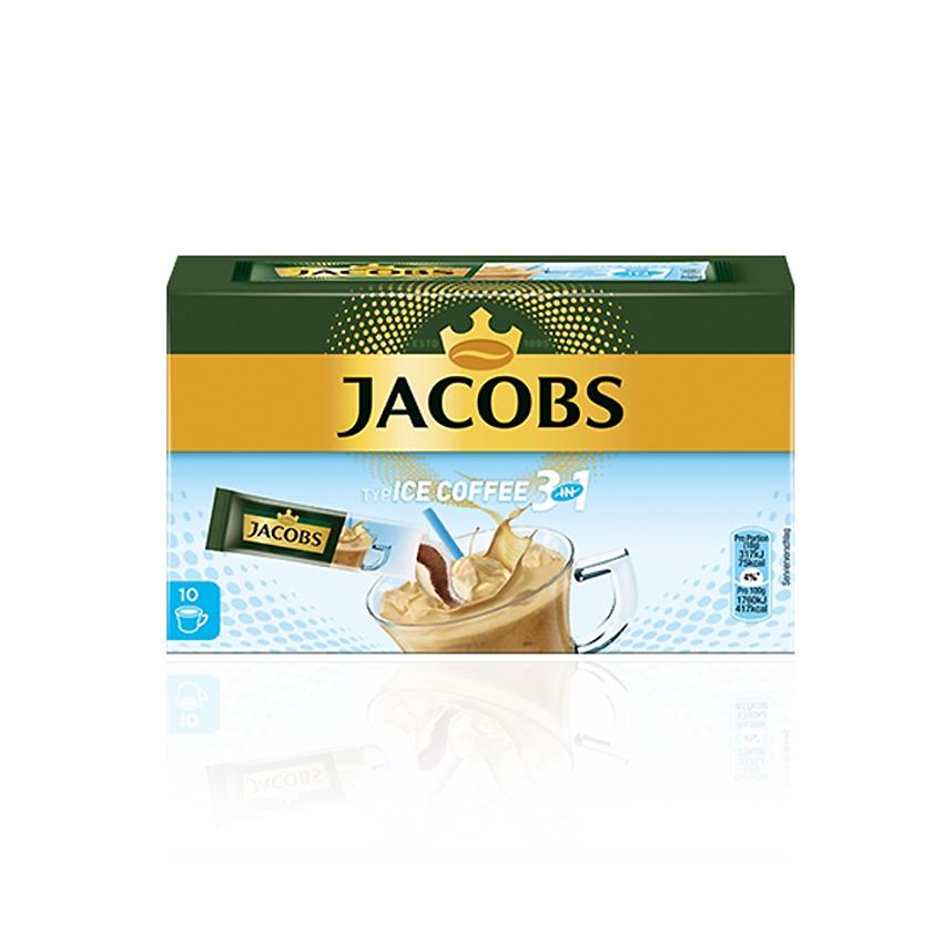 Jacobs 야콥스 아이스커피 믹스커피 봉지커피 10개입 3in1 Typ ice coffee, 1박스, 125g