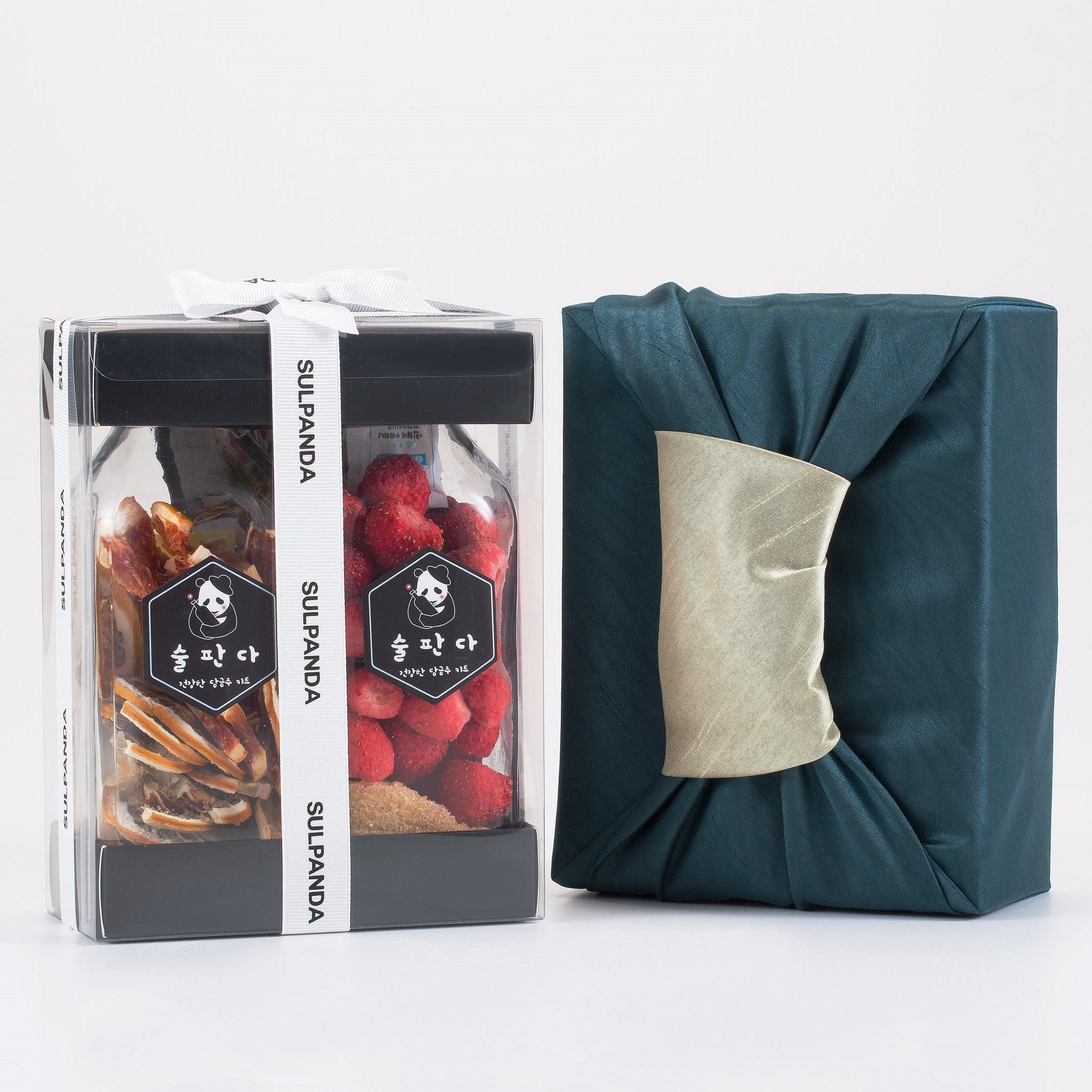 술판다 (SULPANDA) 담금주 키트 2구 포장세트 (500ml x 2), 2병, 국화주+장미주