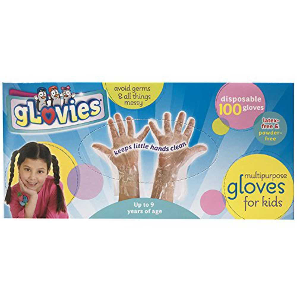 gLovies Multipurpose Disposable Gloves for Kids (100 Pack)- Durable & Latex Free Hand Protection for Any Skin Type Child, 1
