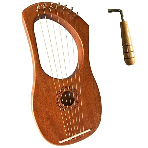 Luvay Lyre Harp - Orchestral Strings Instrument with Tuning Wrench