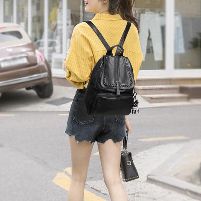 여성 가방 직장인여성백팩 가벼운여성백팩 kirahosi 캐주얼백팩 노트북백팩 Y 35 +덧신 증정 Nzdgx5b
