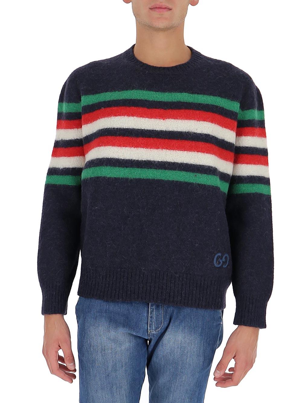 구찌 남자 니트 Mens Blue Wool 633614XKBIP4804