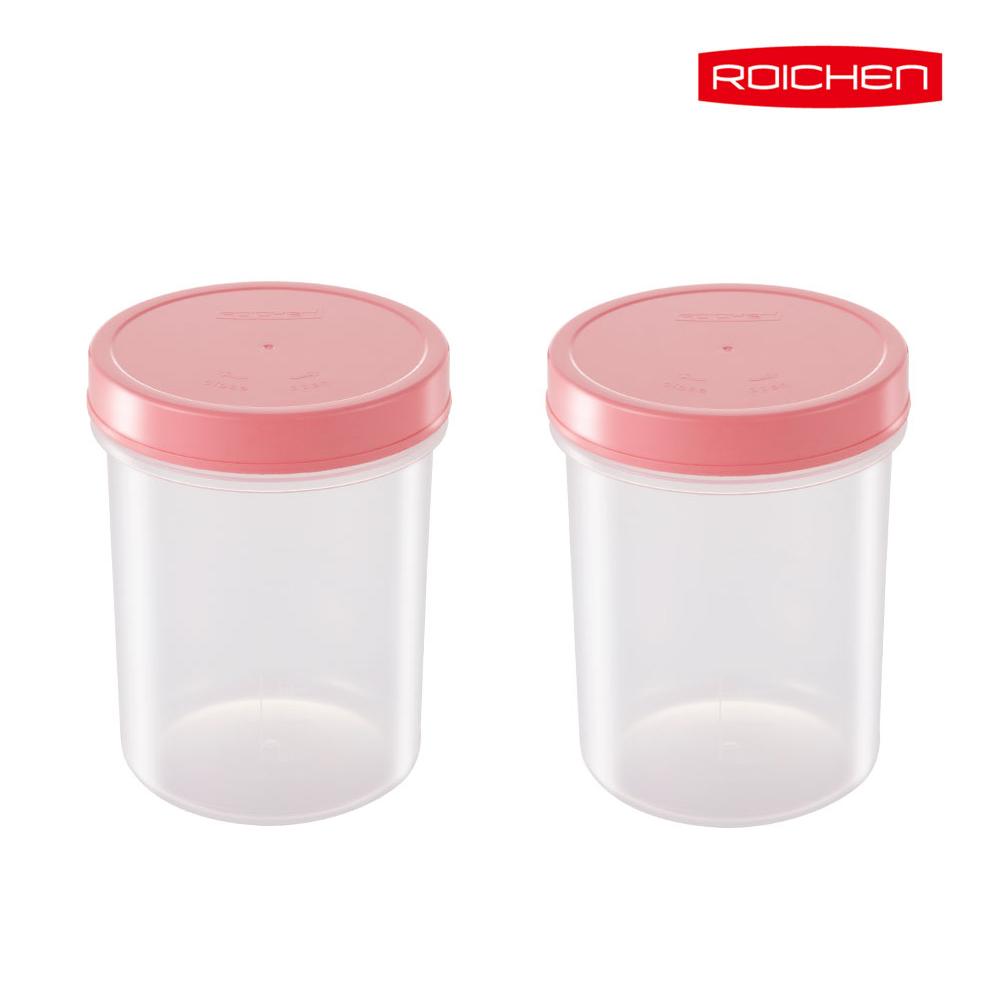 로이첸 요거트 발효용기 1+1 메이커 치즈, 로이첸 발효용기 핑크(1+1)