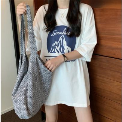 [1+1] 러브썸룩 여성 브룩스 루즈핏 여름 반팔 티셔츠 화이트 1+1 2장 남녀공용