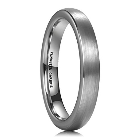 NaNa Chic 보석 3mm Domed Tungsten 합금 반지 링 Ring BlueRose gold실버 웨딩 Band 실버 PROD1620094122