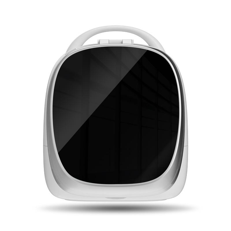 화장품정리대 스마트 화장대거울 포함수납 케이스탁상용 빅사이즈 충전식 화장대 화장품 수납 대용량 매직, T03-알파드 블랙(블랙색)고급모델