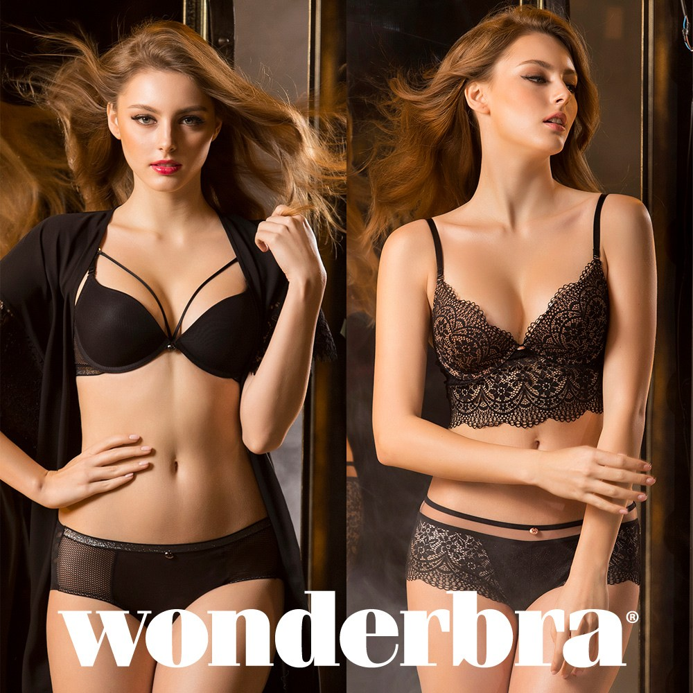 [Wonderbra] 원더브라 블랙에디션 브라팬티 4종세트 WBW8H3941_T