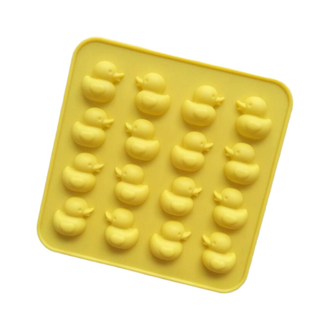 판매 16 귀여운 오리 실리콘 몰드 diy 초콜릿 아이스 비스킷 사탕 금형