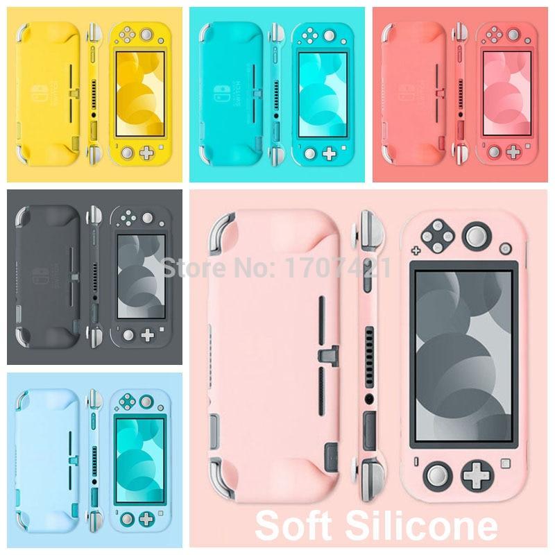 닌텐도 스위치 Nintendos 스위치 라이트 용 핑크 소프트 실리콘 케이스 NS 스위치 라이트 미니 콘솔 용 인체 공학적 미끄럼 방지 보호 스킨 커버 케이스, 닌텐도 스위치 NO.1