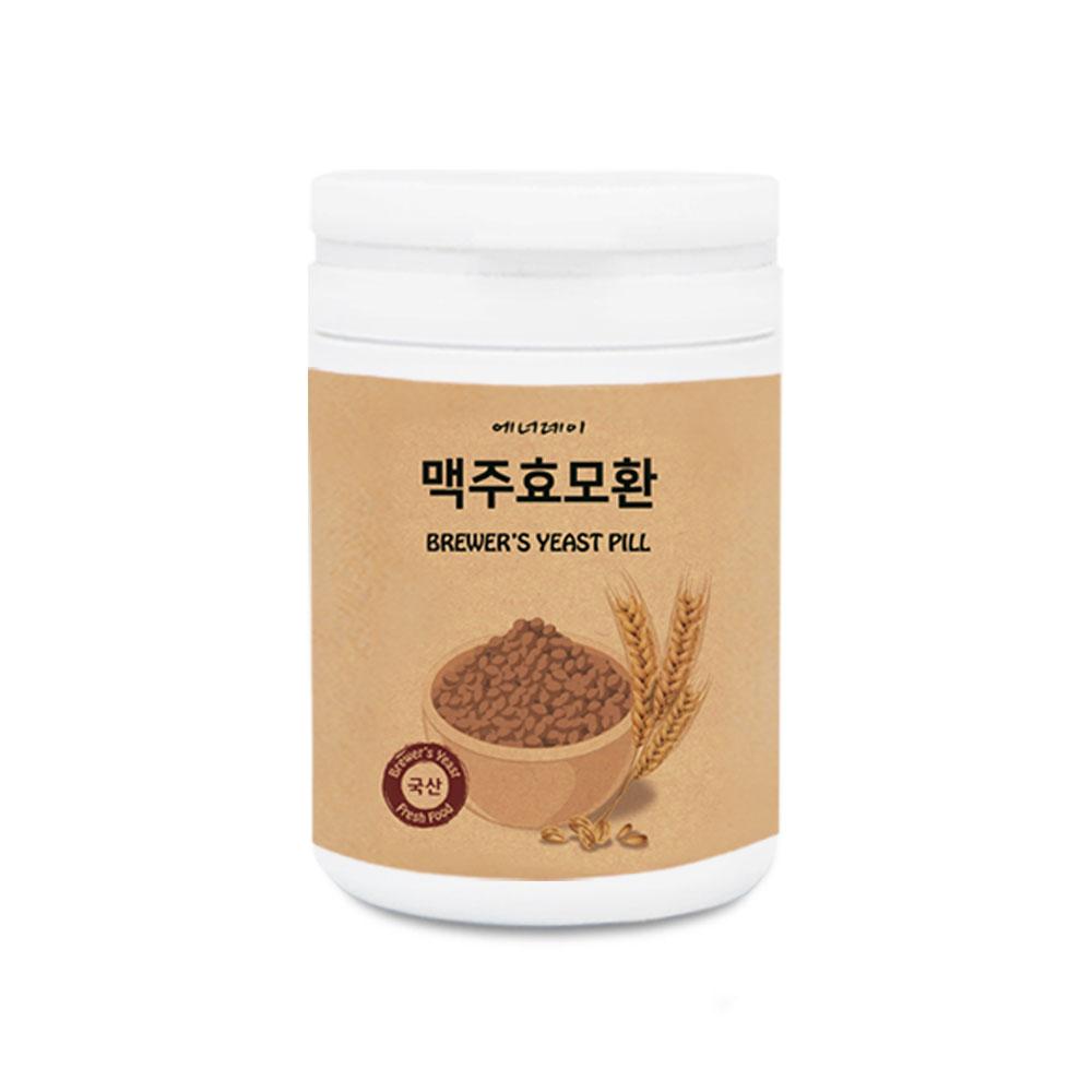 에너데이 맥주효모 환 단백질 비타민 동결건조 모발영양 식이섬유 비오틴 베타카로틴 가는머리카락 임산부맥주효모 맥주탄수화물 국내산, 1개, 250g