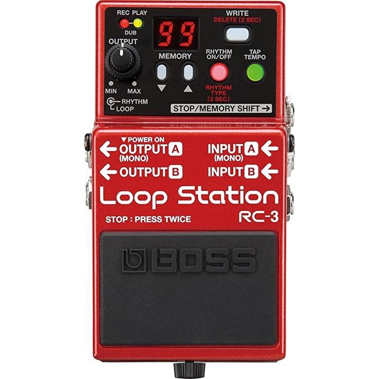 보스 RC 3 루프 스테이션 컴팩트 프레이즈 레코더 페달, 상세페이지 참조