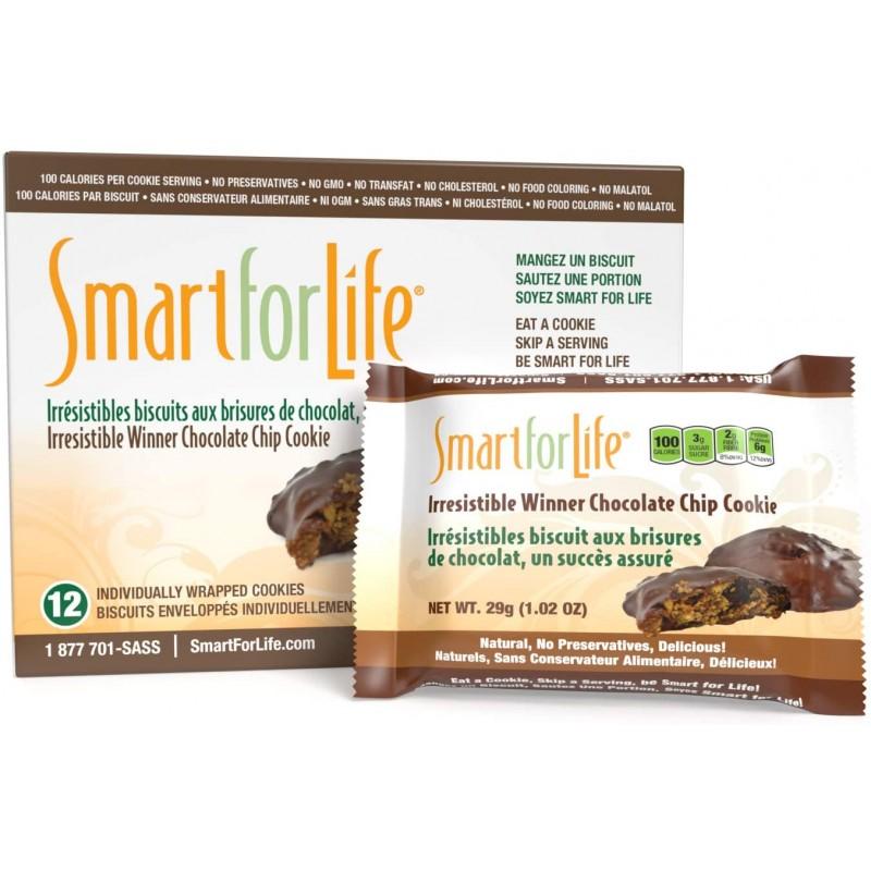 생명을 위한 스마트한 초콜릿 단백질 쿠키 - 저항할 수 없는 우승자 고단백 쿠키 다이어트 - 36 카운트 - 식사 대체 - 이동 중, 1