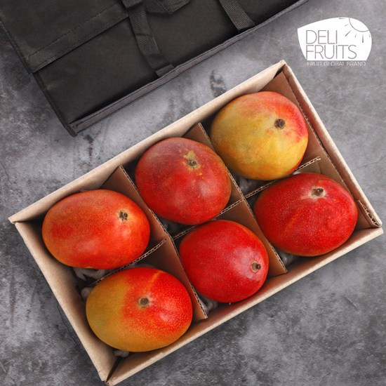 [K쇼핑][델리후르츠] 브라질 애플망고 6과 선물세트(개당 450g내외), 단일상품