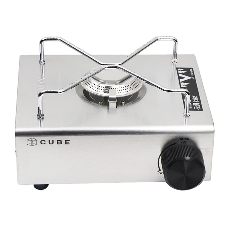 CUBE 원목 가스 버너 바람막이 랜지 글램핑 캠핑 큐브, CUBE 버너