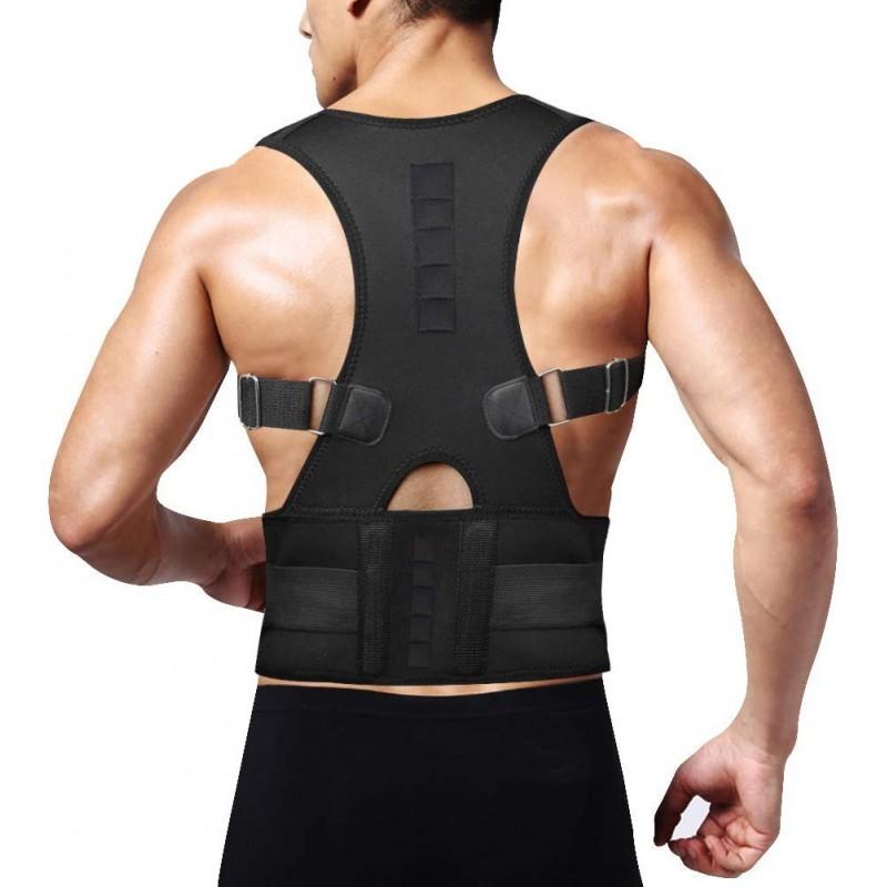 자세 교정기 등받이 허리 통증 완화 용 쇄골 지지대 허리 통증 조절용 허리 받침 벨트 혹등 자세 향상, 단일상품