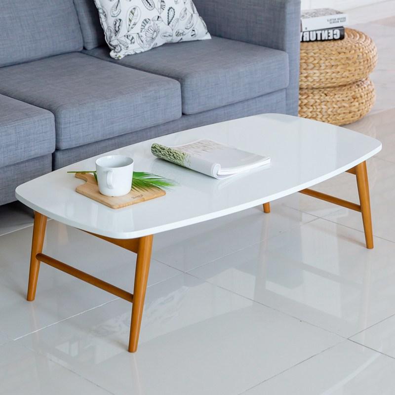 [룸스퀘어] 원목접이식 거실 소파 좌식 테이블 거실테이블, 08_까사테이블1100-화이트하이그로시