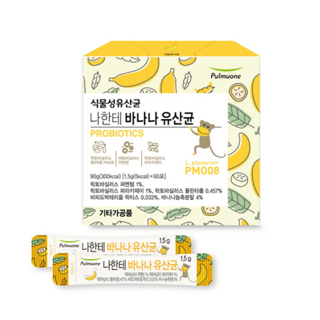 풀무원 나한테 바나나 식물성 유산균 60포, 1개