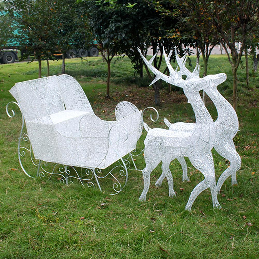 광장 야외용 LED 크리스마스 루돌프 조형물 큰사슴