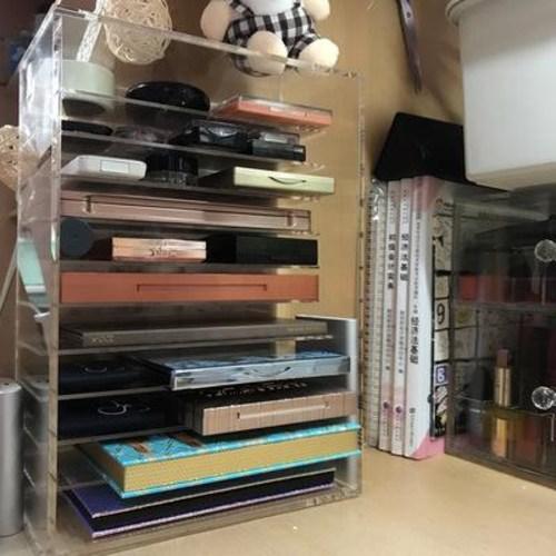 아크릴수납함 틱톡 같은 수제 초대형 아크릴 섀도우 홀더 화장품 수납함 립스틱 테이블 선반, 03 15칸 립스틱 케이스 (소량당 2.5x (POP 5674600320)