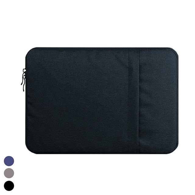 갤럭시탭 S6 S7 플러스 라이트 태블릿 보호 극세사 수납 파우치 케이스, 블랙