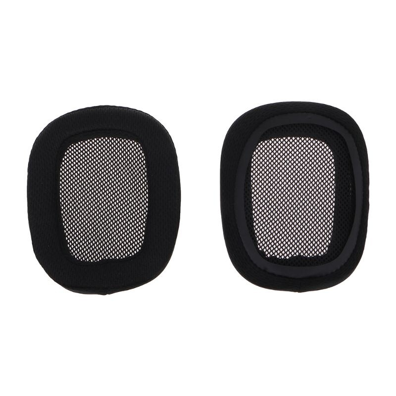 G533 헤드폰 용 1 쌍의 이어폰 이어 패드 이어 패드 스폰지 소프트 폼 쿠션 교체