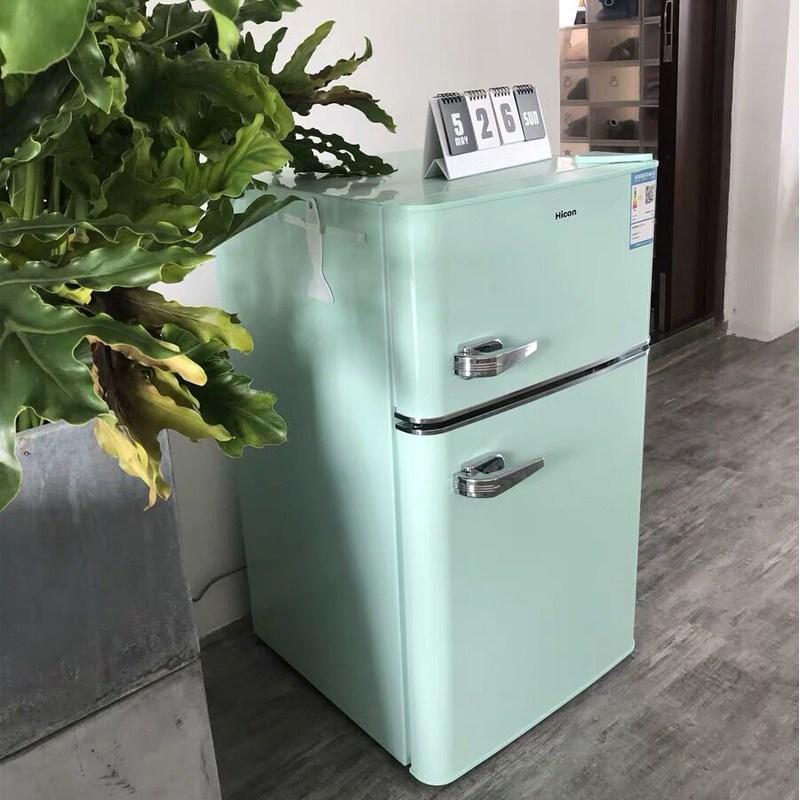 가정용 레트로 소형 냉장고 원룸냉장고 미니냉장고, 108L 민트 그린 업그레이드