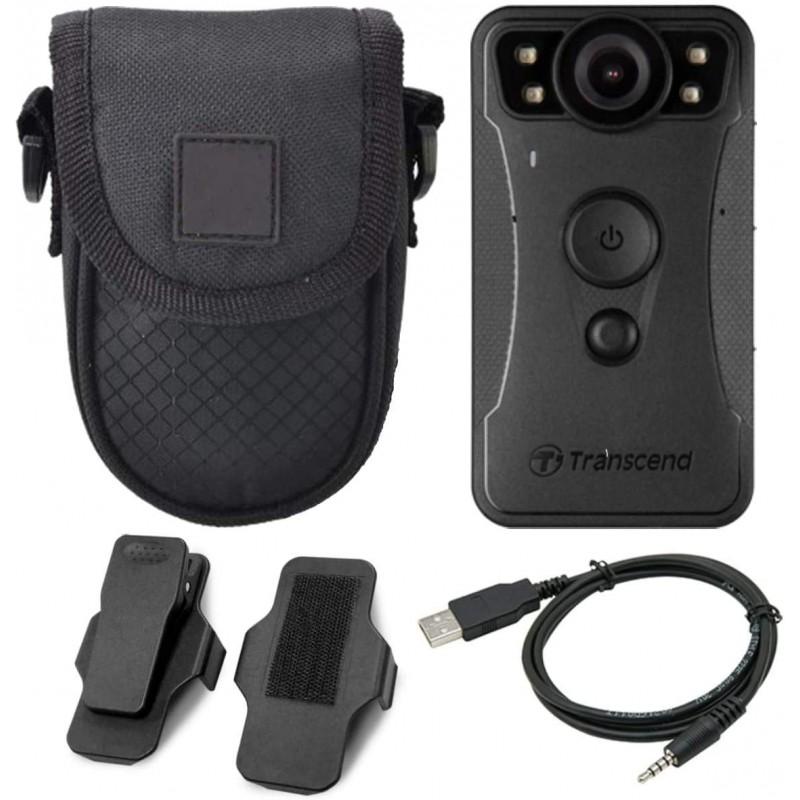 초월 DrivePro Body 30 1080p HD Wi-Fi 비디오 카메라 캠코더 + 콤팩트 카메라 케이스, 단일옵션-10-2007181869