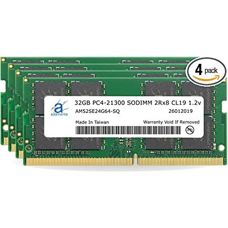 Adamanta 128GB (4x32GB) Memory Upgrade for 2019 2020 Apple iMac 27 (iMac 19 1 iMac 20 1 iMac 20 2), 상세 설명 참조0