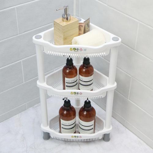 니드코 포레스트 코너선반 다용도 3단 4단 욕실선반, 3단(색상랜덤) (POP 1242335580)