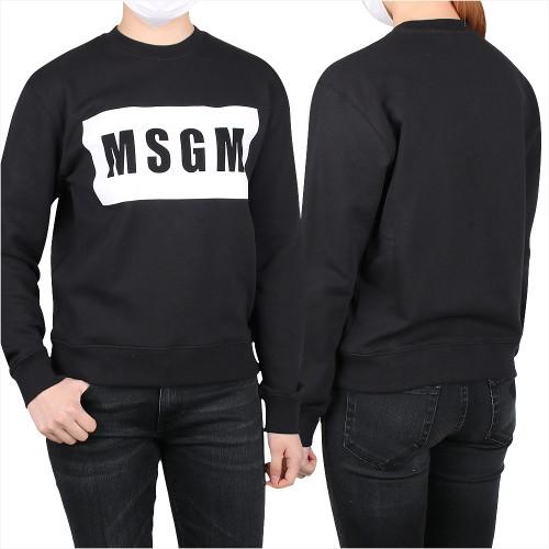 [MSGM] 박스로고 맨투맨 (2841MDM96 207299 99)