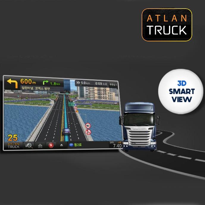 파인드라이브 아틀란 트럭 네비게이션 AX8000T 16기가 씨앤에스링크 8인치, 단일 상품