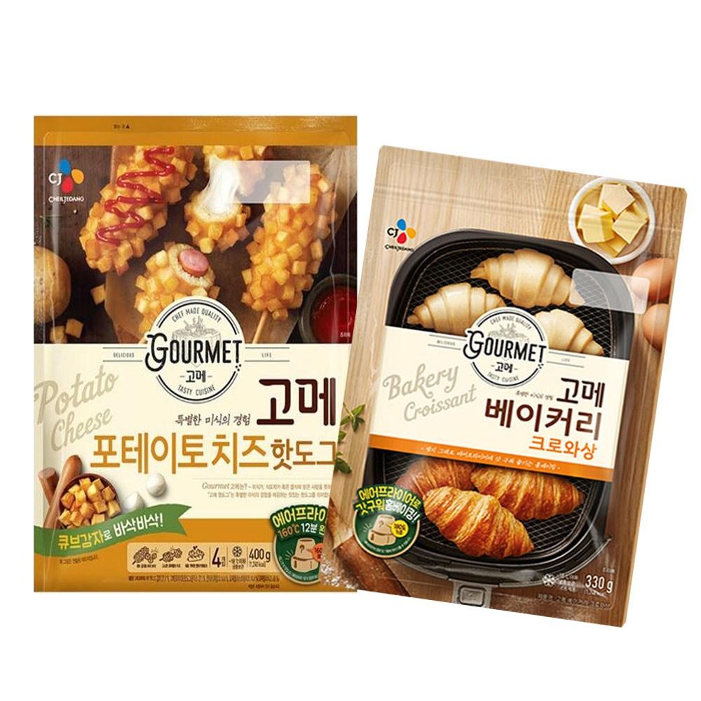 (냉동)고메 크로와상330gx1개+포테이토치즈 핫도그400gx1개, 1세트