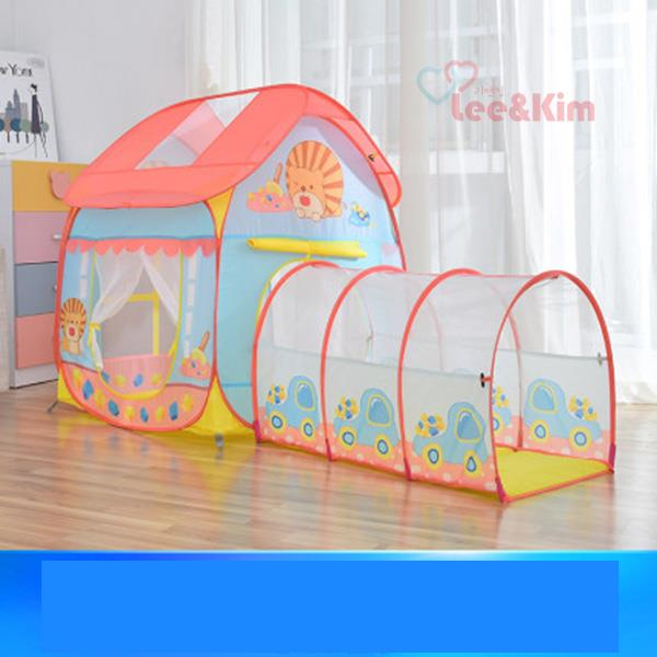 리앤킴 실내 3-in-1키즈 놀이 텐트 WA2515, 텐트+터널