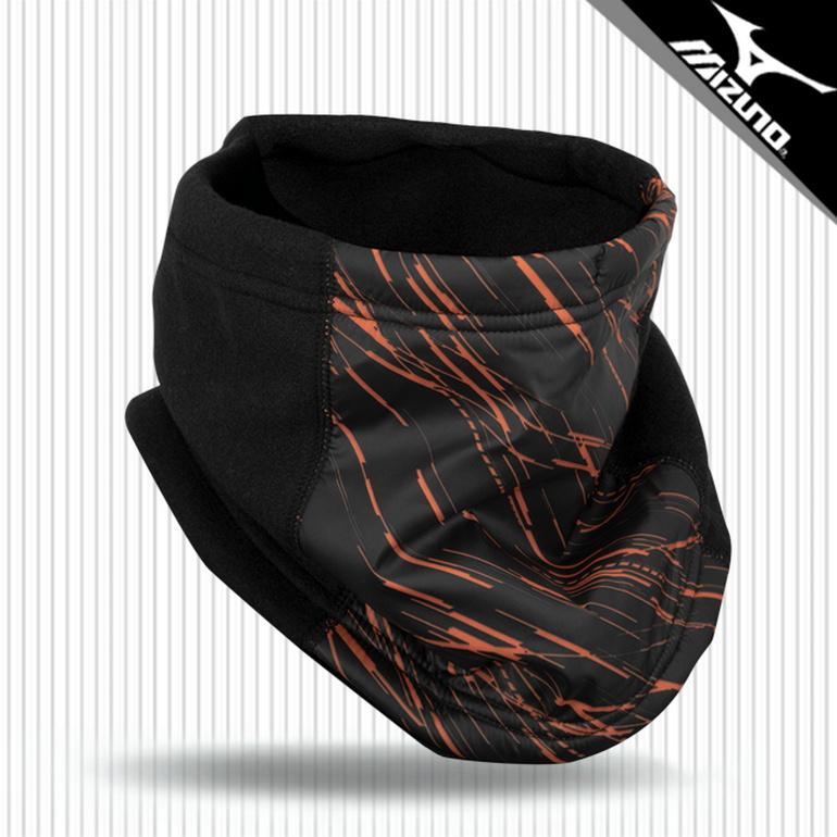 미즈노 브레스써모 넥워머 P2MY050594 블랙오렌지_쿠, 단품