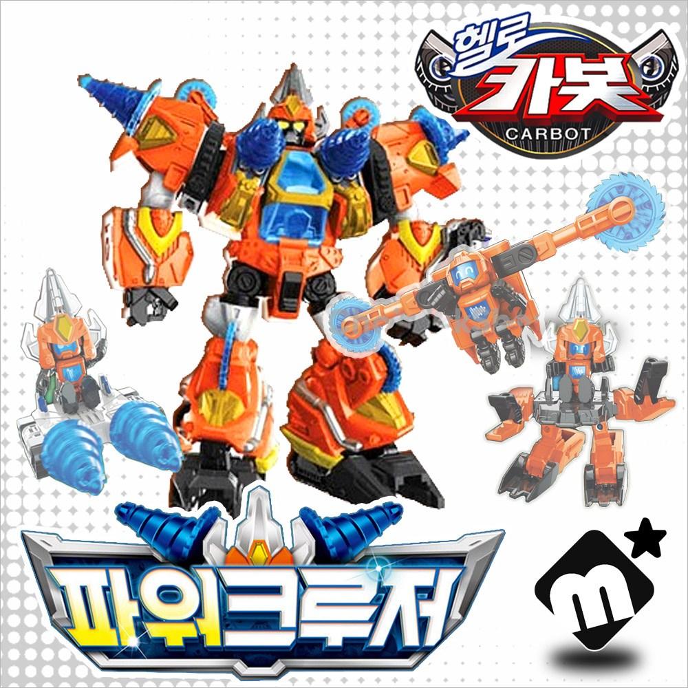 헬로카봇 큐브팩 포함 3D 변신로봇 파워크루저/ LED 로봇 자동차 미니카 장난감, 단품