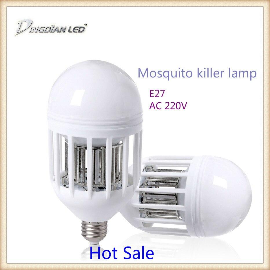실내 모기 킬러 램프 e27 led 전구 220 v 15 w 곤충 모기 repeller 야간 조명 전기 트랩 라이트 야외 듀얼 사용, 1개, changeable