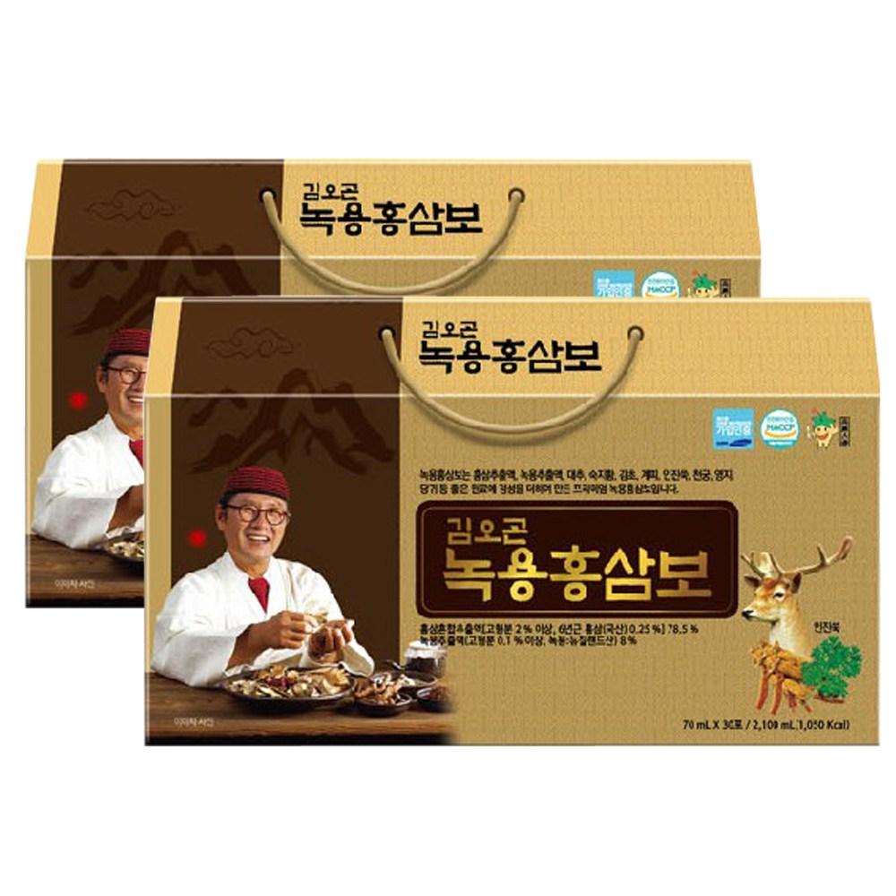 김오곤 녹용홍삼보 국내산 6년근 홍삼 + 천삼침향단10환 구, 2개월(60포)+침향단10환