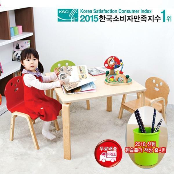 NEW 뉴 비카책상세트(책상+의자1개)유아/이케아/학교, 유아직사각(RECT):레드