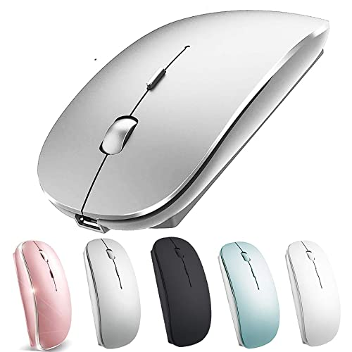 Wireless Mouse for MacBook Air Pro Wireless Mouse for MacBook Laptop Windows IMAC (Silver), 본상품