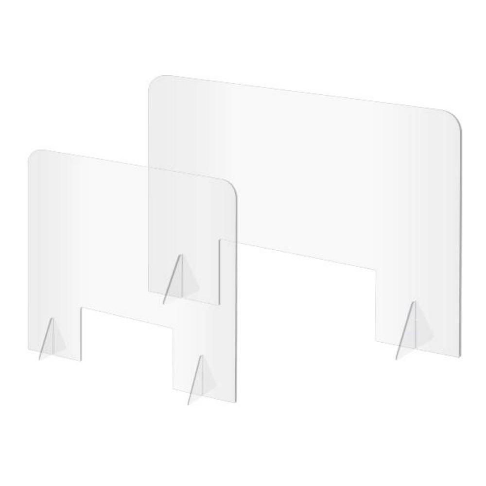 힐링스 코로나 식당 칸막이 학교 책상 아크릴 가림판 투명 가림막 데스크파티션, 가로 600mm
