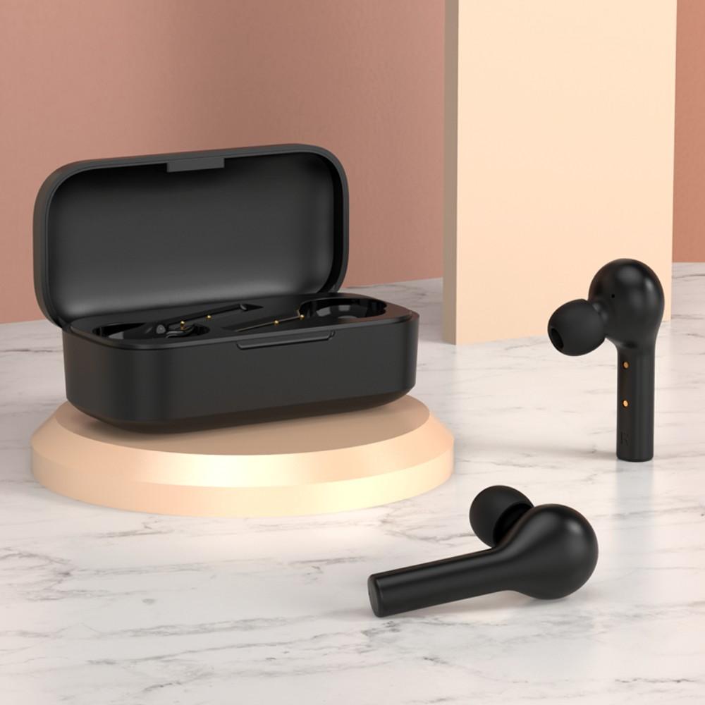 QCY T5Pro 블루투스 헤드셋 이어셋 이어폰 인이어 스포츠 애플 아이폰 화웨이 안드로이드, 실버 블랙