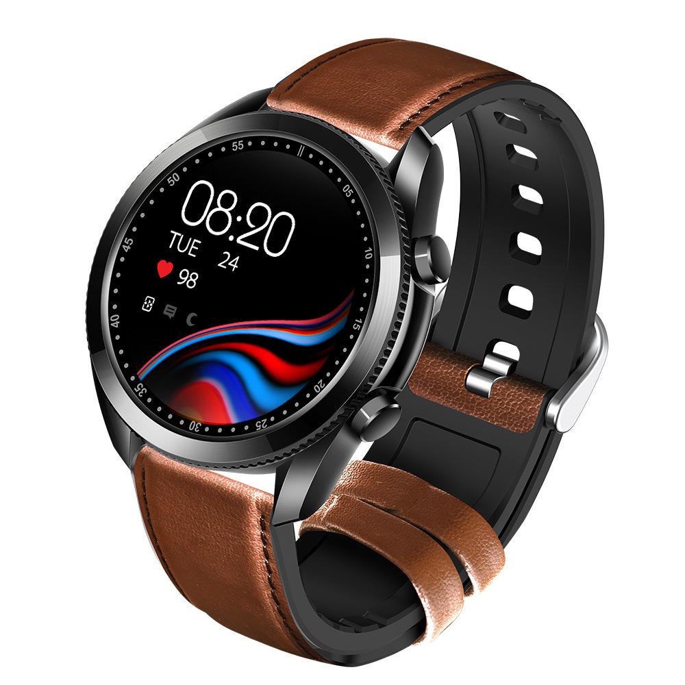 [ jy프 ] 스마트 워치 블루투스 5.0 통화 시계 UM90 100% 완벽 한글지원 스포츠-24개 심박 혈압 혈액산소 다기능 시계 - 시계줄 추가 1개, UM90 워치 블랙 + 추가 시계줄